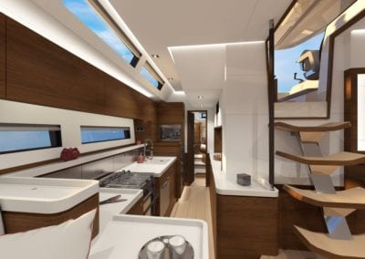 AMEL 60 Galley view