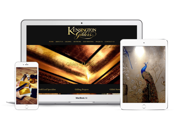 Website Design for Kensington Gilders in London